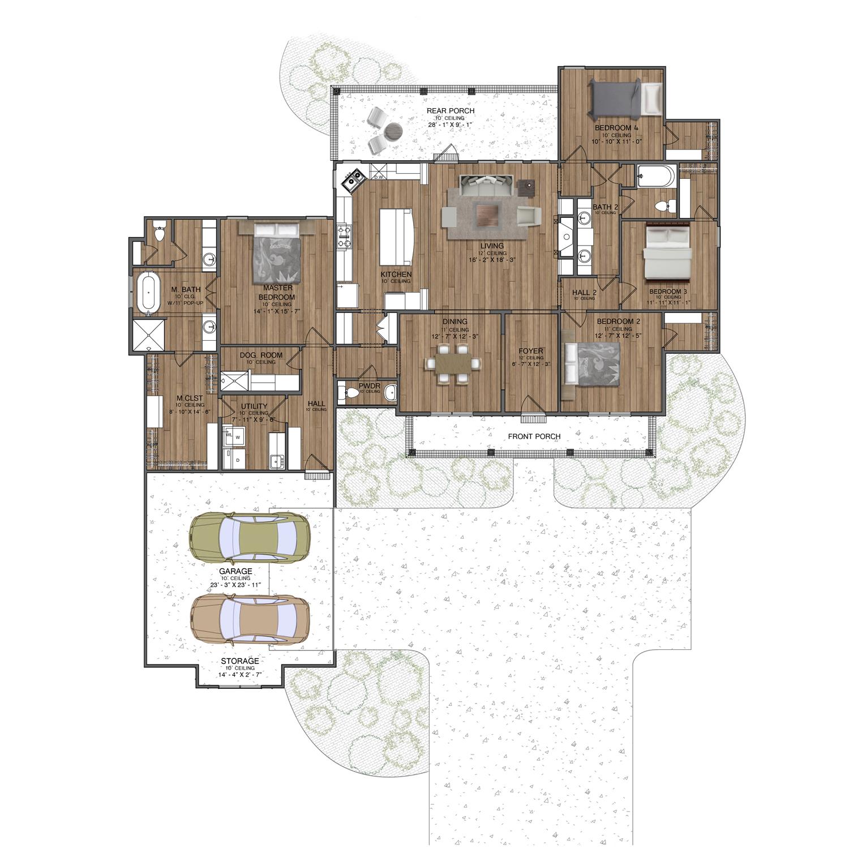 15_2D-Floor-Plan-Rendering